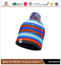 Fashion High Quality Unisex Girls Boys Knitted Snowstar Winter Pom Pom Beanie Hat