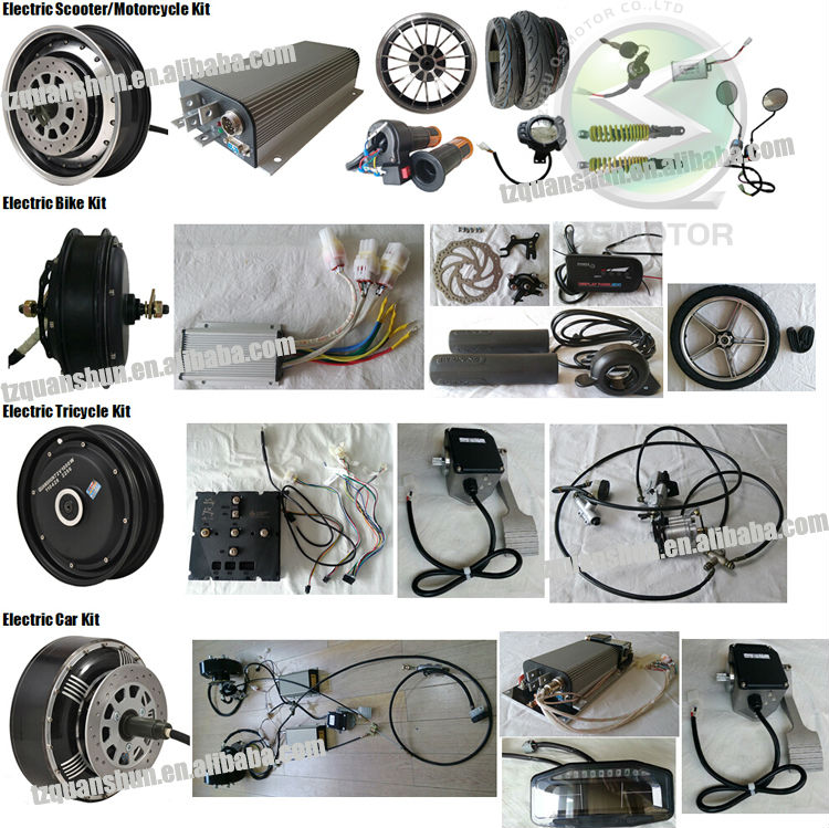Electric Scooter Motorcycle Brushless Dc Hub Motor