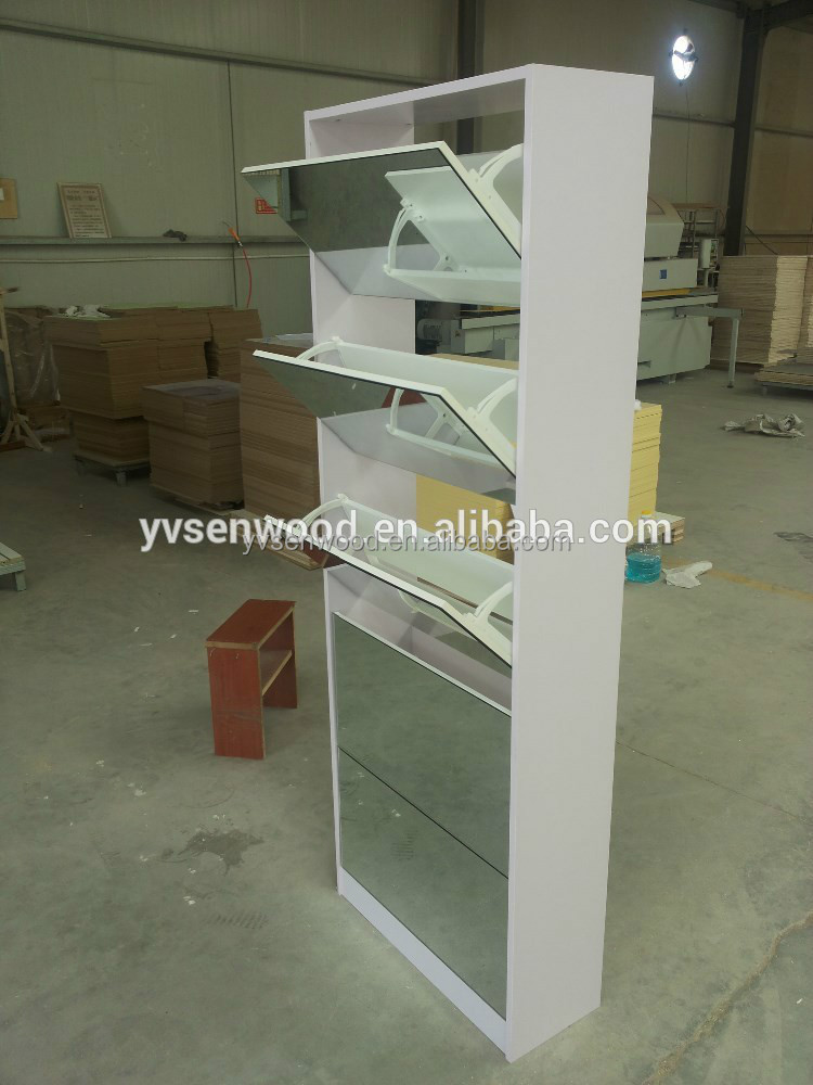 five ties shoe cabinet with glass door