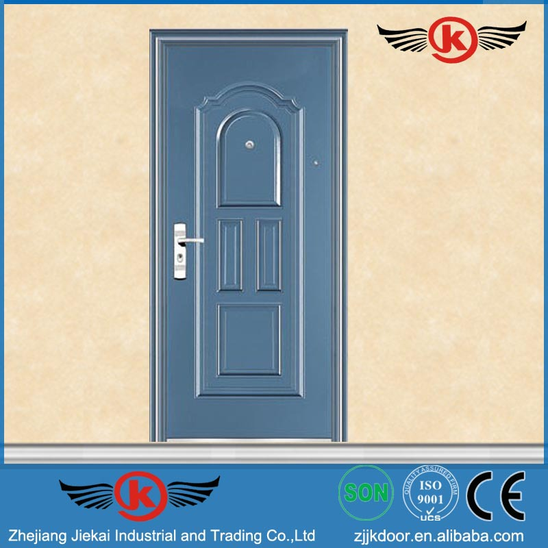JK-S9018 JieKai blue color anti pry steel metal door