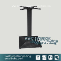 Square black Table base cast iron restaurant table base metal table base