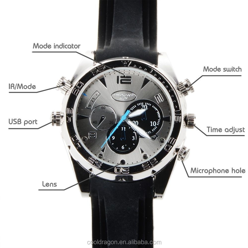 Fashionable Waterproof HD DVR Hidden Camera 1080P Wrist Smart Watch Video Recorder Camcorder