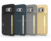 Hot Selling Back Cover Leather case For Samsung Galaxy S6 Edge