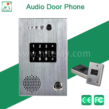 2 way wired intercom system for voip door with touch keypad