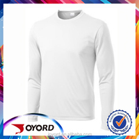 Black and White Blank Sublimation Casual and Athletic Training Fitness Jersery Long Sleeve Shirts