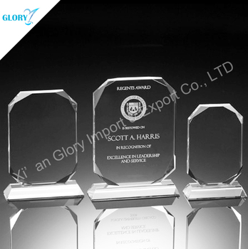 Classic style cheap blank crystal glass plaque cube trophies in China