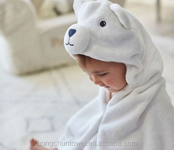 Natural Organic Cotton Panda Baby Towel
