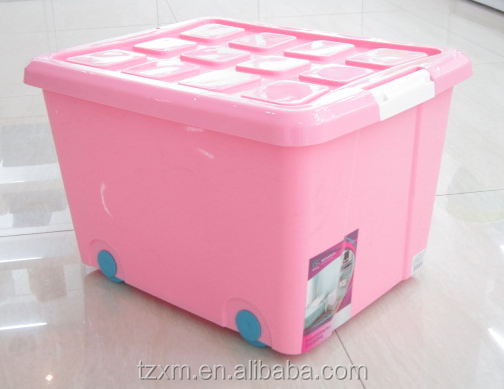 Q-0161 large capacity storage box with lid and wheels