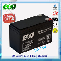 Lead Acid Valve Regulated 12V 7ah ups battery for emergency light