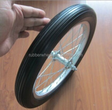 pu foam bicycle 16x1.75 solid tire wheel