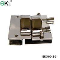 Stainless steel glass gate latches for outdoor pool fencing