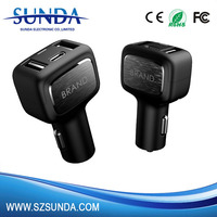 Fast charging 3 in 1 Type c car charger with quick charge 3.0 port