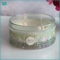 FengJun 4 wicks wholesale scented blend wax candle in glass jar for home decor
