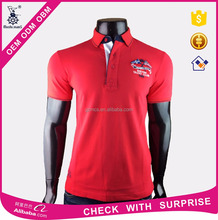 man to man or family polo t-shirt with embridery logo customized