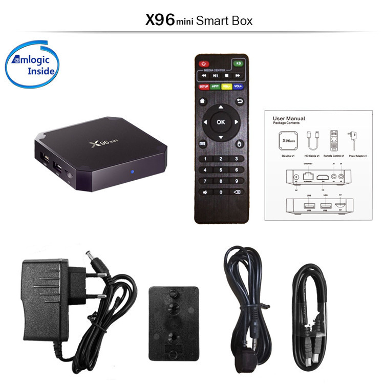 Best Selling 4K Amlogic S905W 2gb 16gb Android 7.1 Tv Box X96 Mini