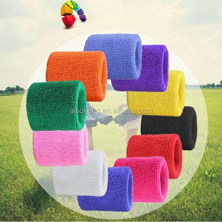 China wholesale cheap terry cloth wristbands sport sweat bands