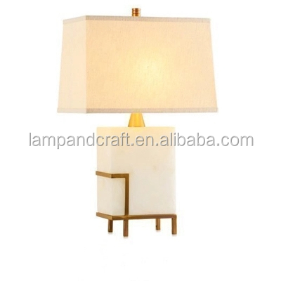 white marble decoration <strong>lamp</strong> with square shape for home desk