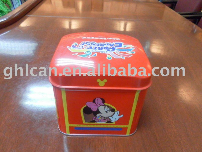 square gift tin box