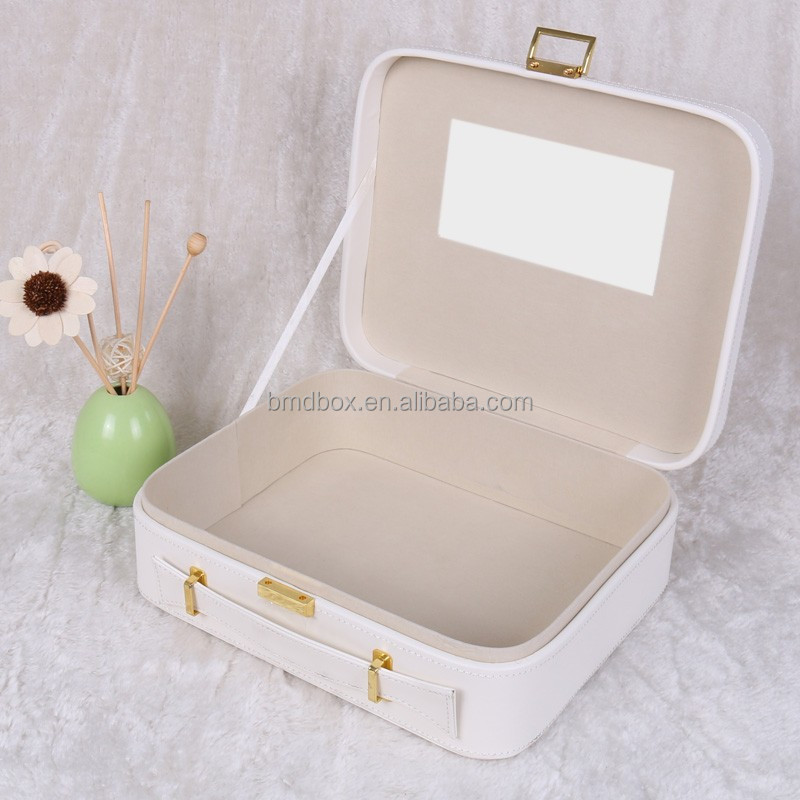 wholesale high quality custom PU leather doll packaging box
