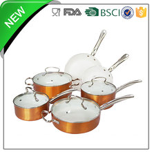 10pcs aluminum ceramic coating plastic insulated casserole