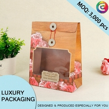 Printing luxury gift packing bags String Closed bag with window
