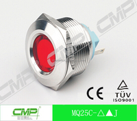 25mm waterproof metal led indicator light