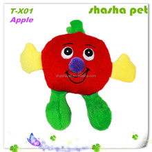 Factory wholesale dog toy pet plush toy high-quality apple toy in pet product