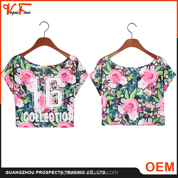 OEM service cheap National style sleeveless sexy knit custom women crop top