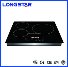 110V/220V commercial kitchen appliance three burner induction cooker/square shape triple induction stove/electric hob cooktop
