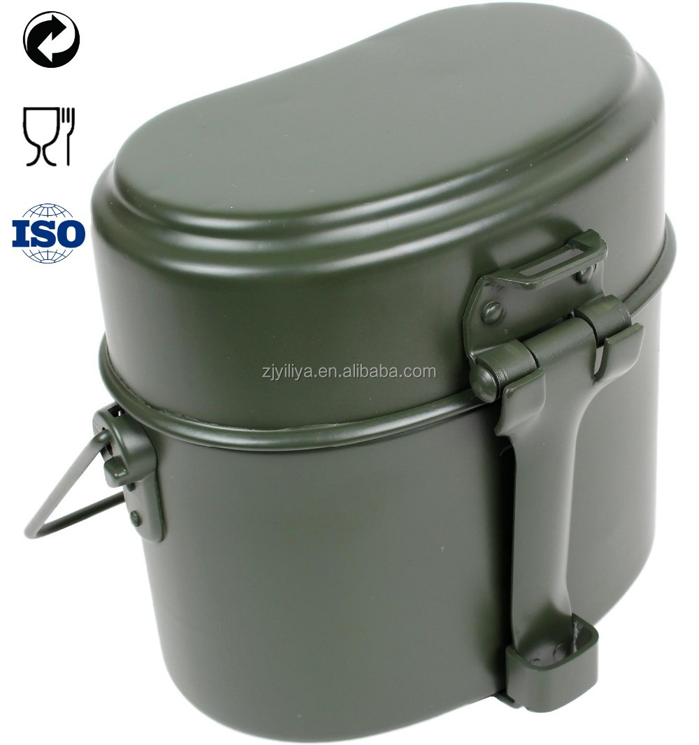 Wholesale Aluminium military mess tin army water canteen lunch box aluminium tin box for army 3rd party audited