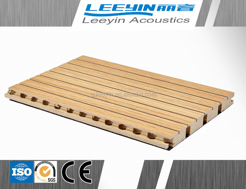 E1 Fireproof material acoustic wood wall panel for interior