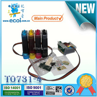 Superior quality! Refillable cartridge for printer TX100, ciss ink system for printer TX100, CISS T0731 T0732 T0733 T0734