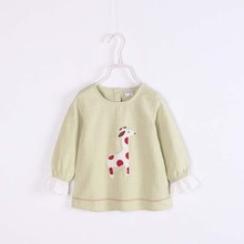ca30056 long sleeve think cute little girls tops