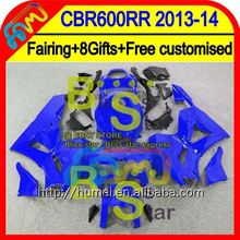 8Gifts Injection ALL Blue For HONDA CBR600RR 13 14 28HM45 CBR 600RR 600 RR 2013 2014 Glossy blue CBR600 RR F5 13-14 Fairing
