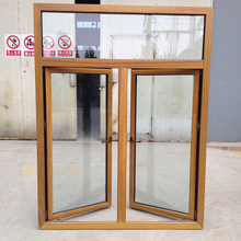 Customized Simple Style Two Sashes Solid Timber Casement Window with True Divided Lite