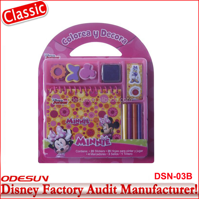 Disney Universal BSCI Carrefour Factory Audit Kungfu Panada Minnie Art Make Up Stationery Set 17