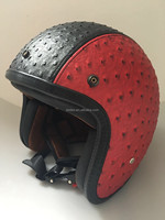 leather vintage helmet motorcycle helmet open face motor helmet 8658 wholesale