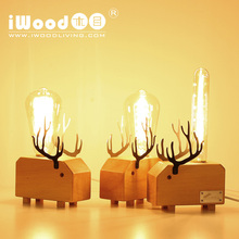 2017 Novelty lighting home decorative table lamp wood table lamp