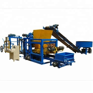 Double Z pavers interlocking concrete blocks machinery QT4-25 interlocking cement blocks/bricks forming machine