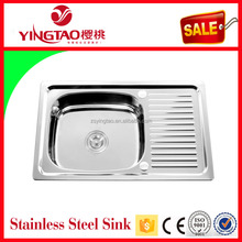 Italian kitchen equipment, small stainless steel sink in kitchen,galvanized steel water trough