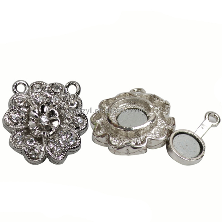 Magnetic clasps for scarf fashion silver plated jewelry accessory magnetic lock clasp for jewelry