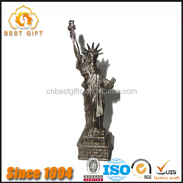 Guangdong Factory Custom Country Tourism Souvenirs US Metal Statue Of Liberty