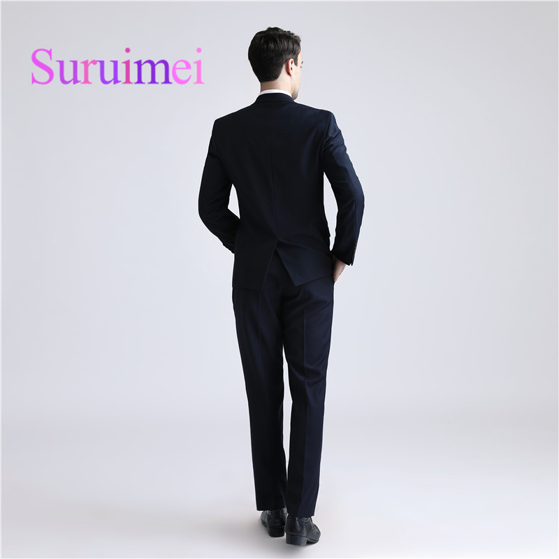 2017 new arrivals Black men suits with long sleeves and pants free shipping hot sale in China