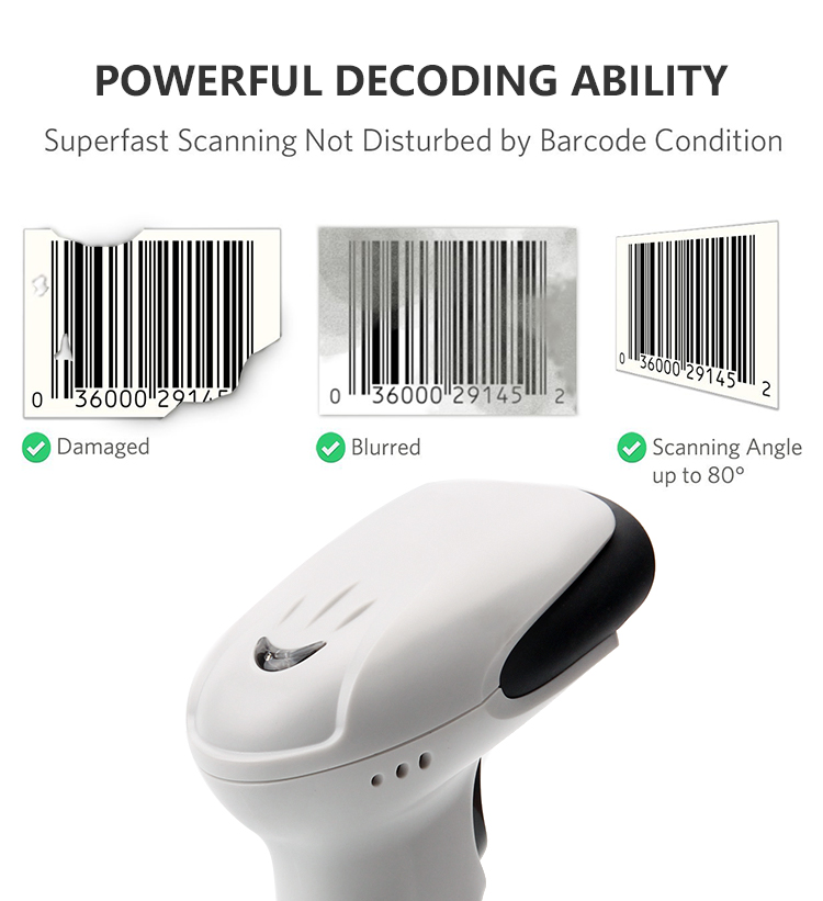 China production Waterproof wireless wifi CCD bar code machine 1D barcode handheld scanner