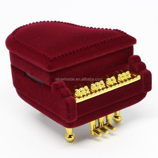 New Piano Ring Box Earring Pendant Jewelry Treasure Gift Case Wedding