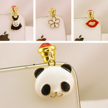 Charming phone accessories earphone jack dust cap plug