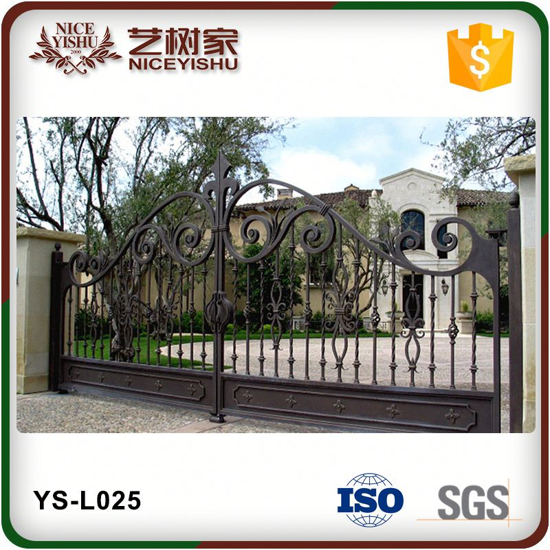 Yishu Modern Main Gate Designs For Homes And Garden Wrought Iron Gate On Alibaba.Com