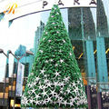 Outdoor giant christmas tree with star decoration christmas tree