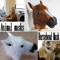 Halloween Costume Theater Prop High quality Animal Head Mask Novelty Latex Rubber Horse Masks