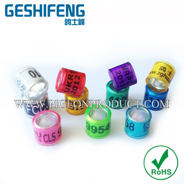 ring 2016 with your phone number serial number new style ring for racing pigeons